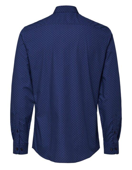 Selected Skjorte - Slim Circle Shirt Navy | GATE36 HOBRO