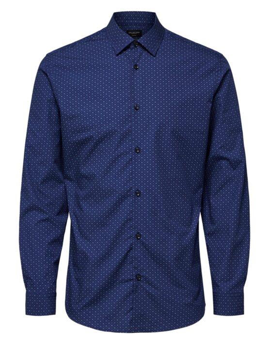 Selected Skjorte – Slim Circle Shirt Navy