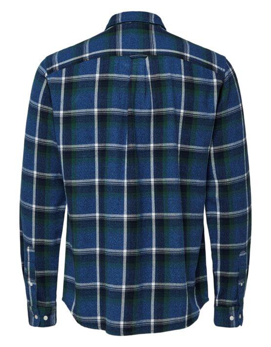 Selected Skjorte - Reg Niels Shirt Forest Check | GATE36 Hobro