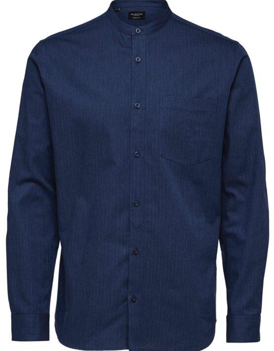 Selected Skjorte – Reg Mart Shirt Dark Blue