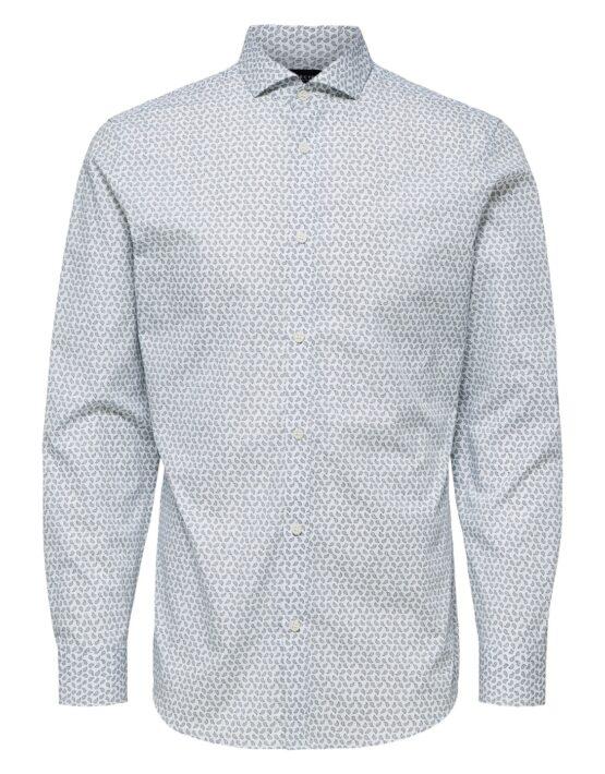 Selected Skjorte – Slim Msel Woody White Aop