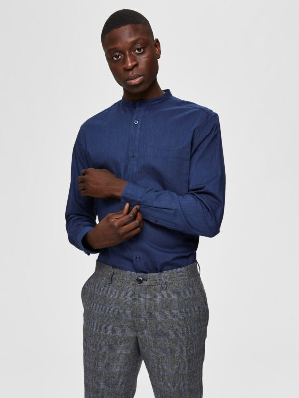 Selected Skjorte - Reg Mart Shirt Dark Blue | GATE36 HOBRO