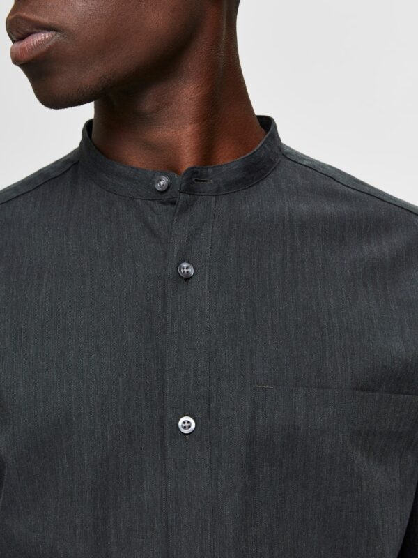 Selected Skjorte - Reg Mart Shirt Grey | GATE36 HOBRO