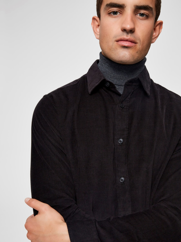 Selected Skjorte - SLHREGCRAIG-CORD BLACK | GATE36 Hobro