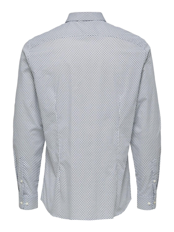 Selected Skjorte - Slim Michigan AOP   GATE36 Hobro