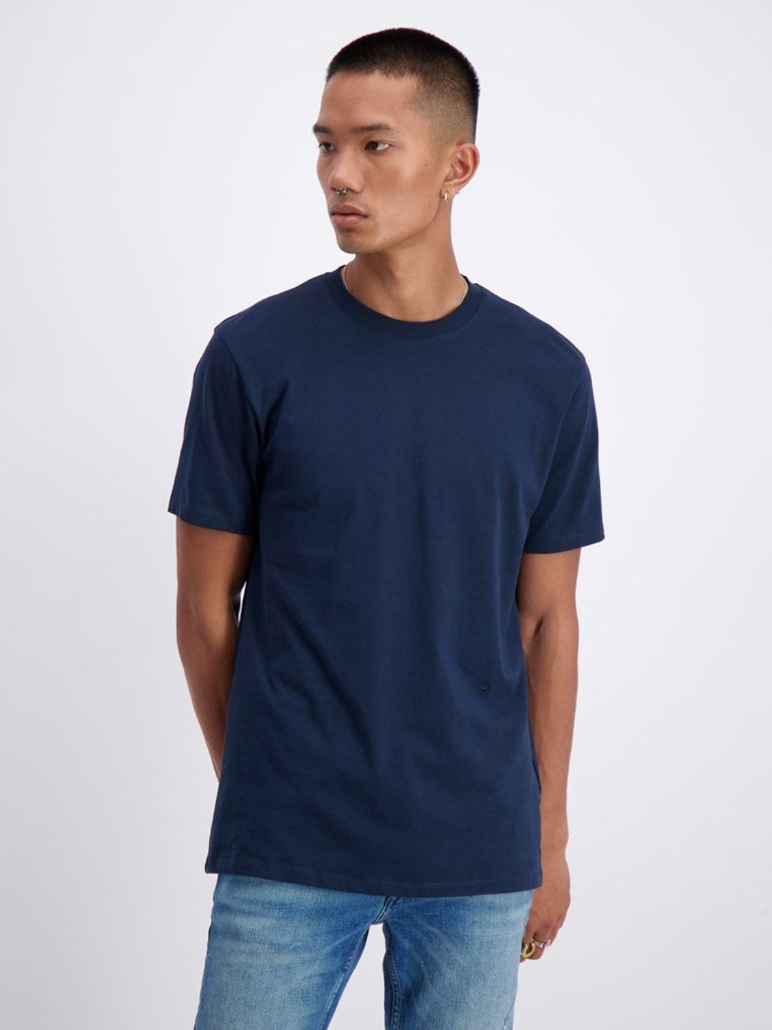 Junk De Luxe - Basis T-Shirt Navy | GATE 36 Hobro