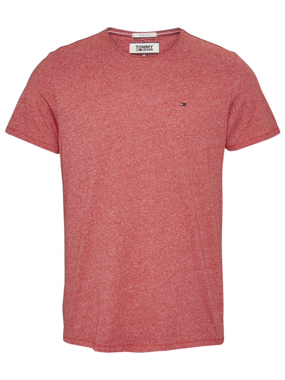 TOMMY HILFIGER - T-shirt Jaspe Rød | GATE 36 Hobro