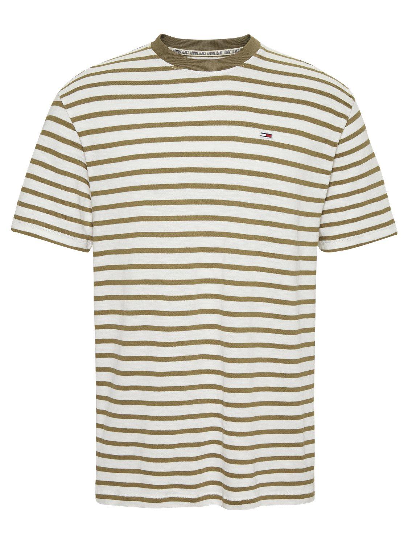 TOMMY HILFIGER - T-shirt Stripe Olive/White | GATE 36 Hobro