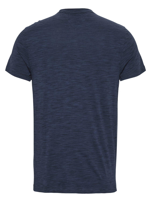 TOMMY HILFIGER - T-shirt Texture Logo Navy   GATE 36 Hobro