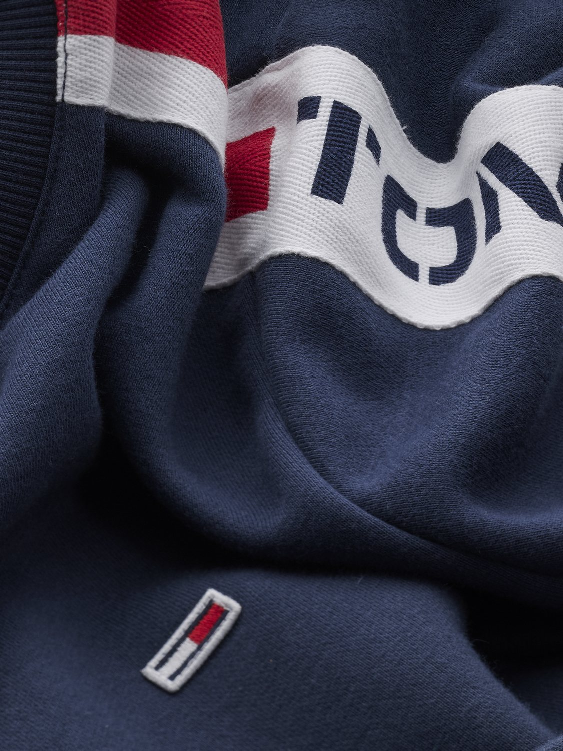 TOMMY HILFIGER - Sweatshirt Tape Crew Navy | GATE 36 Hobro