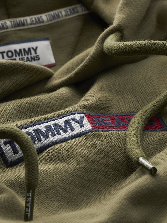 TOMMY HILFIGER - Hoodie Box Logo Olive | GATE 36 Hobro