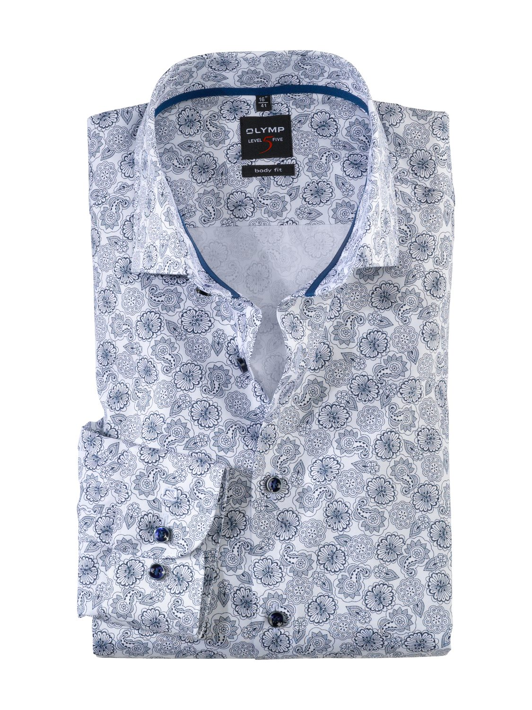 Olymp - Skjorte White / Blue | GATE 36 Hobro
