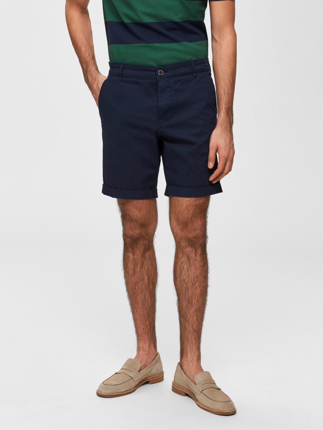 Selected - Chino Shorts Dark Sapphire | GATE 36 Hobro