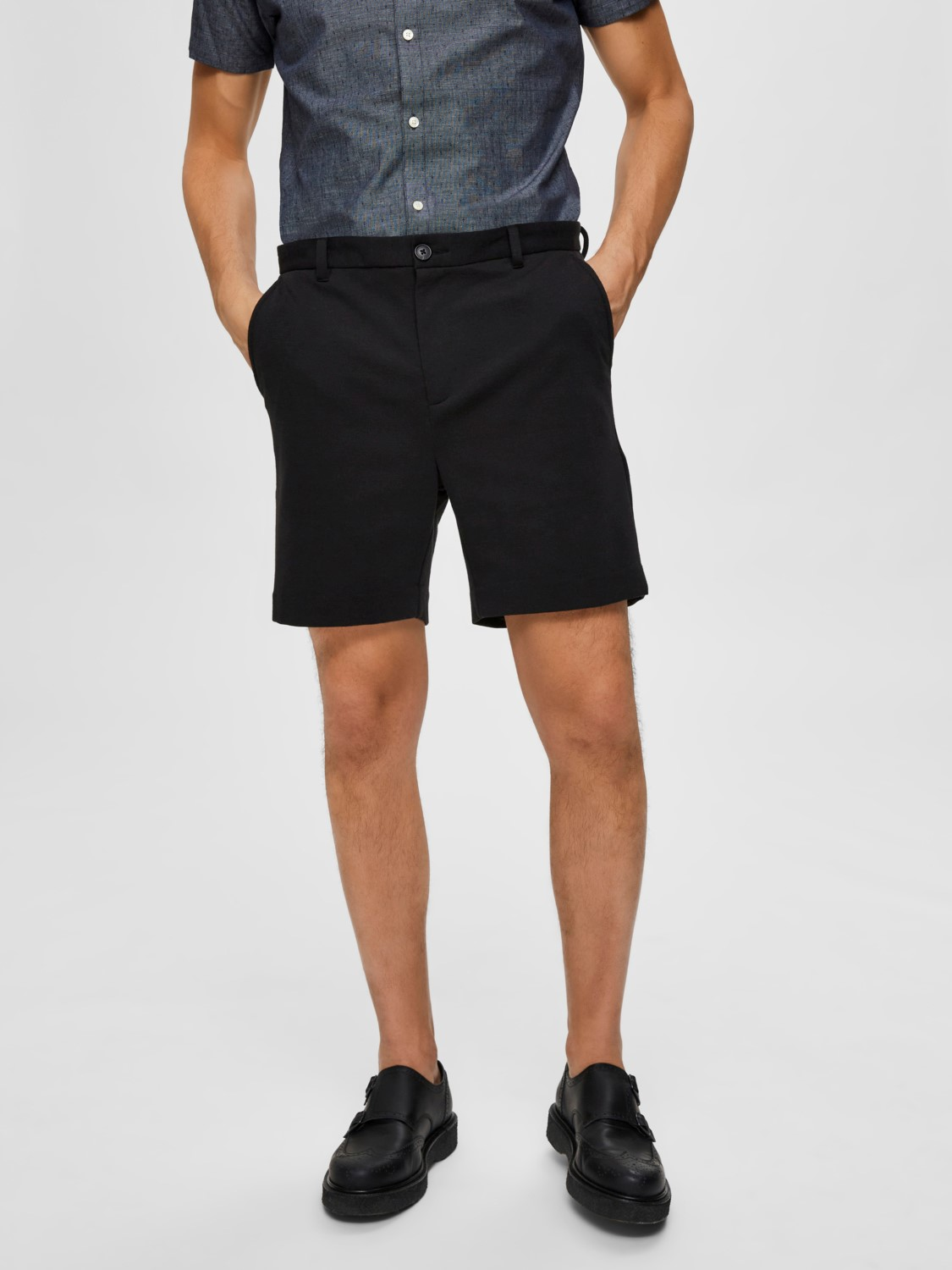 Selected - Slhjersey Shorts Black | GATE 36 Hobro