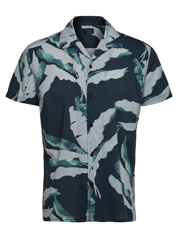 Selected Skjorte - SLHREGAVALON Black/AOP   GAte36 Hobro