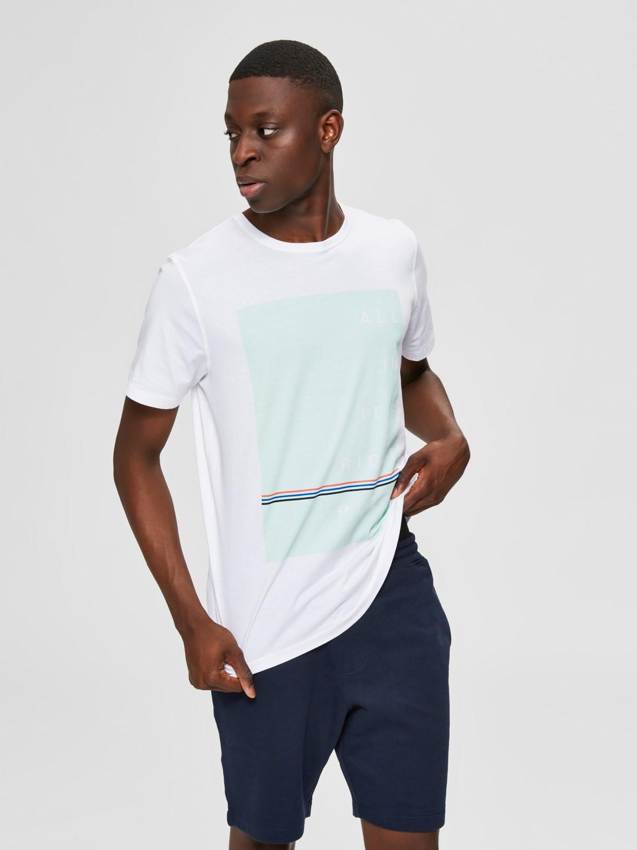 Selected T-shirt Slhwindsor White | GATE 36 Hobro