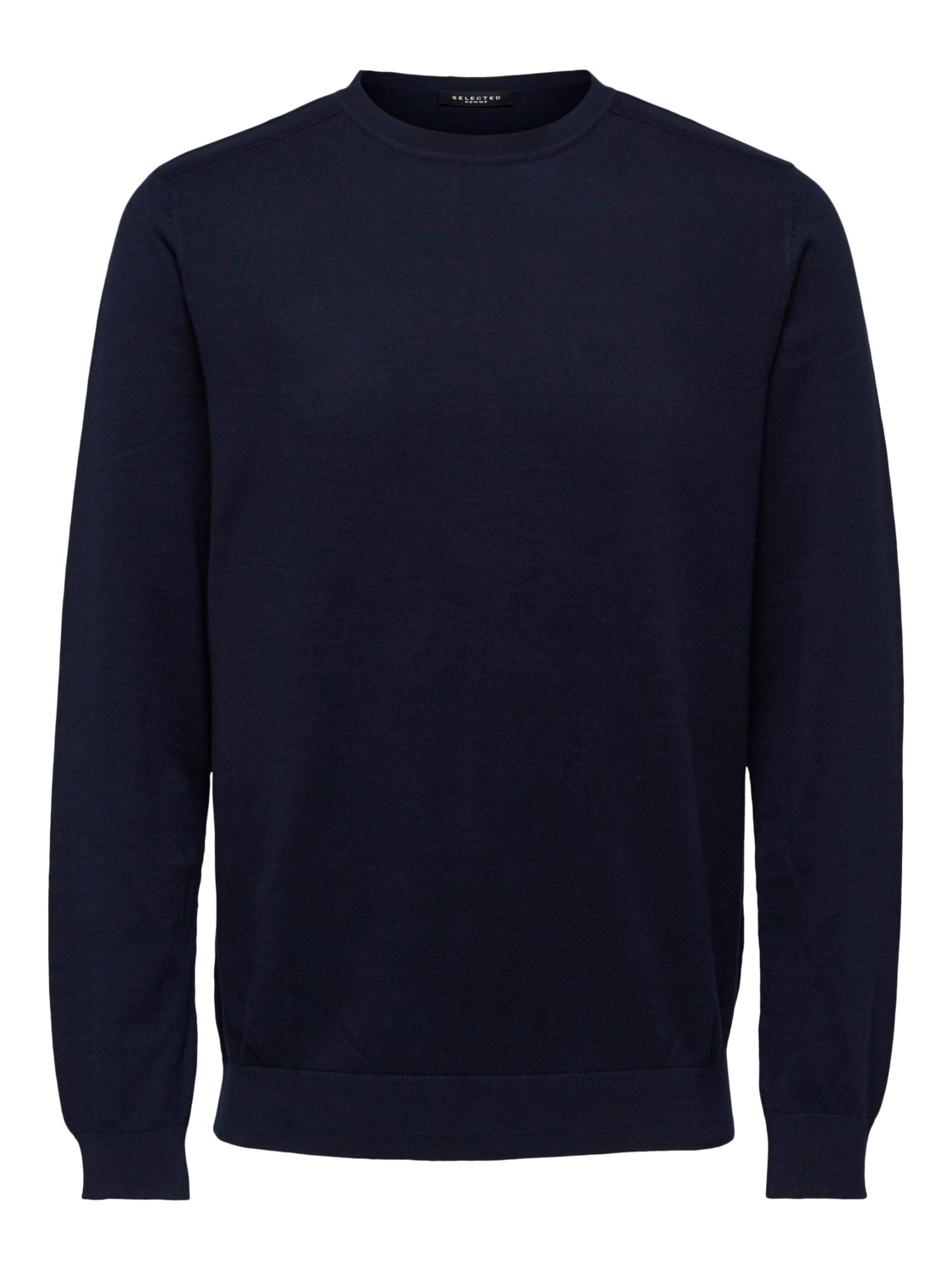 Selected - slhberg crew neck Strik navy | Gate36 Hobro