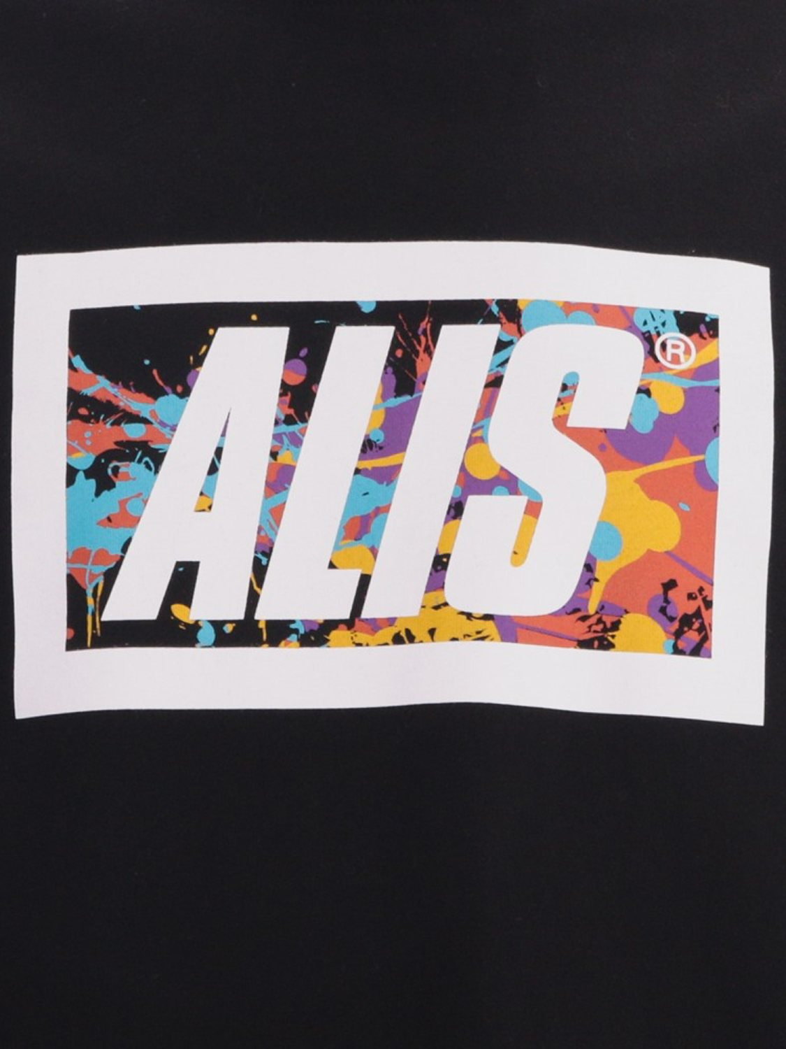ALIS- T-SHIRT SPLATTER BLACK | GATE36 HOBRO