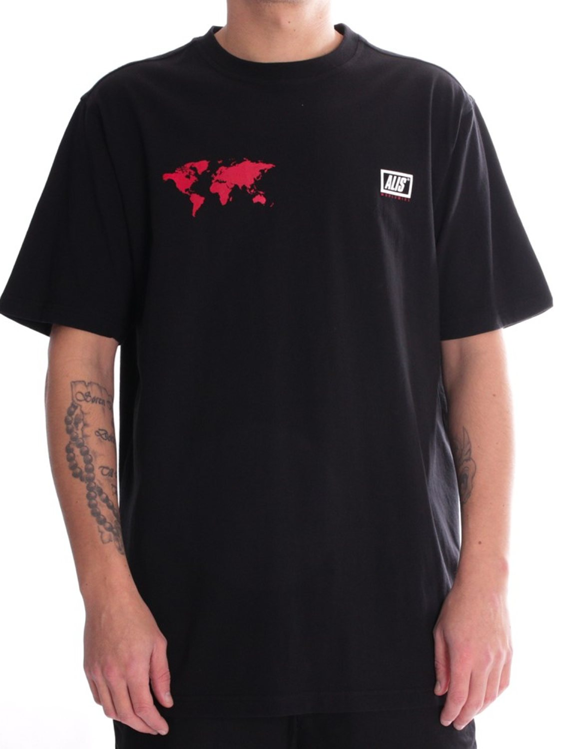 ALIS- T-SHIRT WORLDWIDE BLACK | GATE36 HOBRO