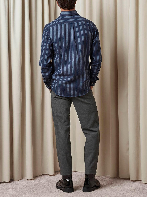 NN07 - Levon Shirt 5728 navy stripe | GATE 36 Hobro