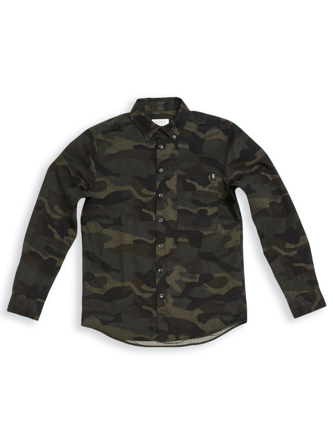 GABBA ATLANTA ABSTRACT CAMOUFLAGE SHIRT BLACK | GATE 36 Hobro