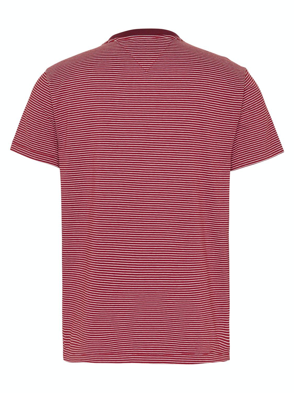TOMMY HILFIGER - basic stripe T-shirt wine red | Gate36 Hobro
