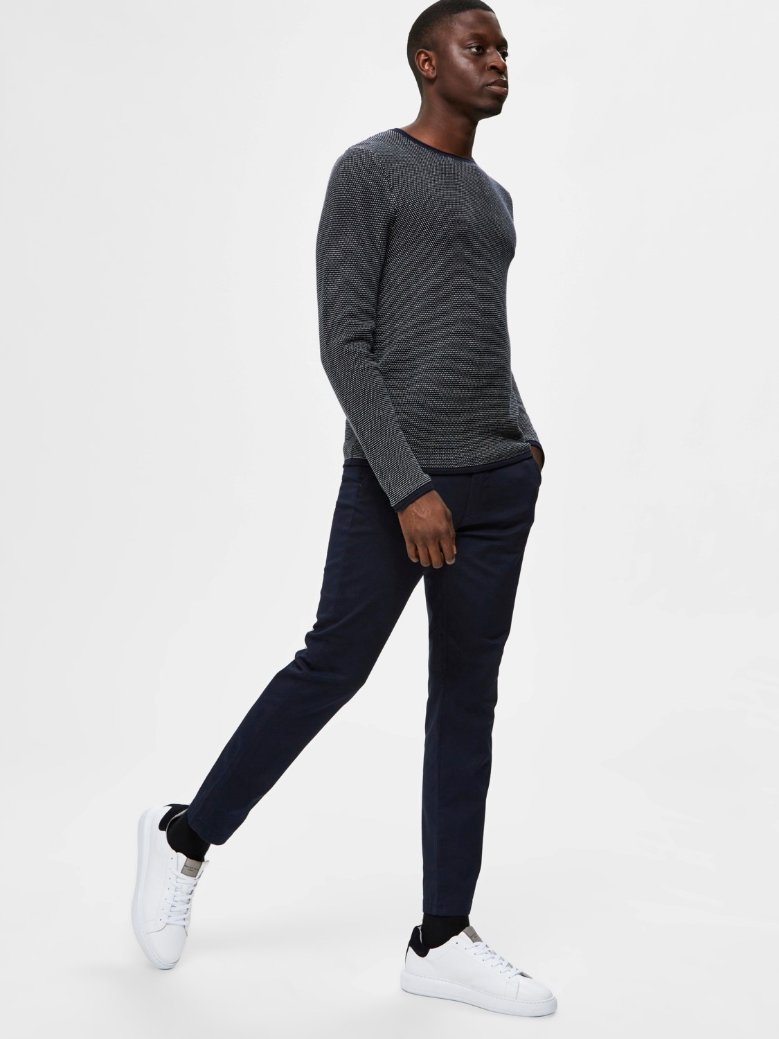 Selected Chino´s flex pants dark sapphire | Gate36 Hobro
