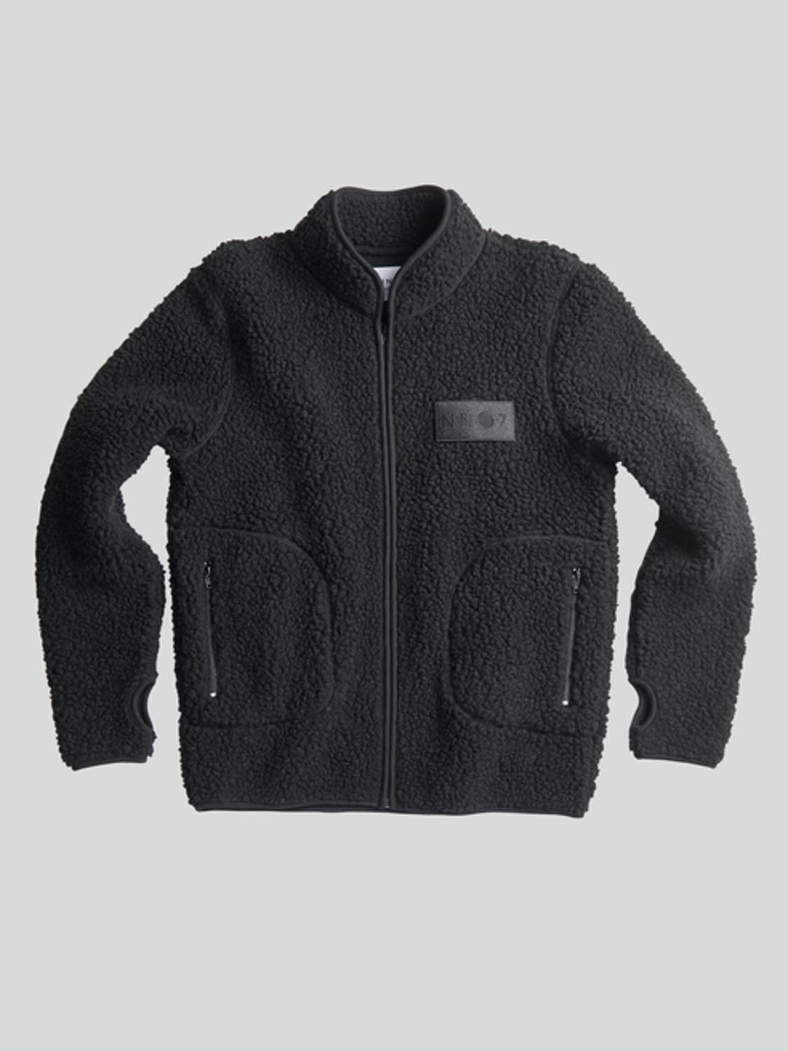 NN07 - MORT 3443 FLEECE JAKKE BLACK | GATE 36 Hobro