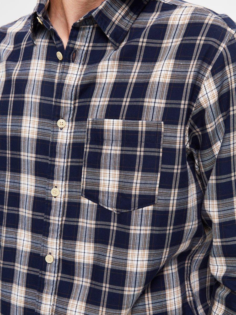 Selected Skjorte - Slhregmatthew shirt Navy/Check | GATE 36 Hobro