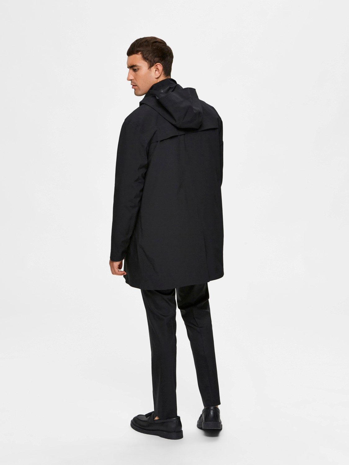 Selected Jakke - SLHLUCAS HOOD TECH PARKA BLACK | Gate36 Hobro