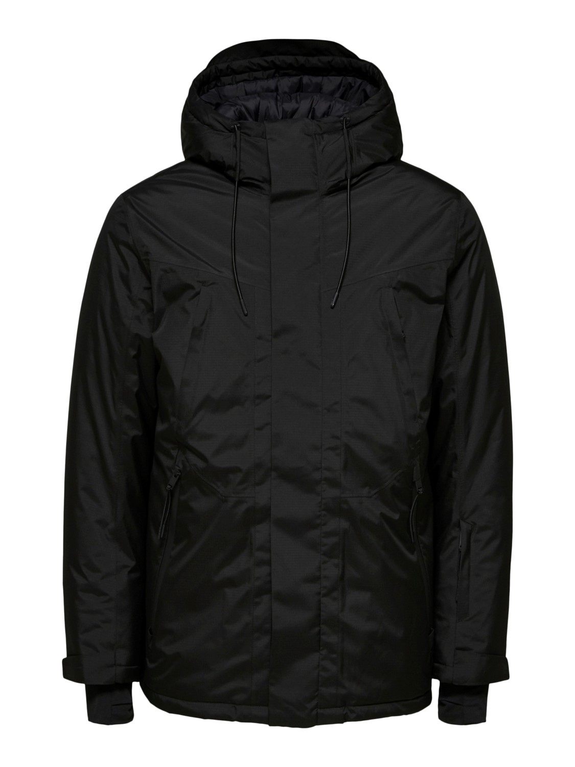 Selected Jakke - SLHARLO TECH RIBSTOP PARKA BLACK | Gate36 Hobro