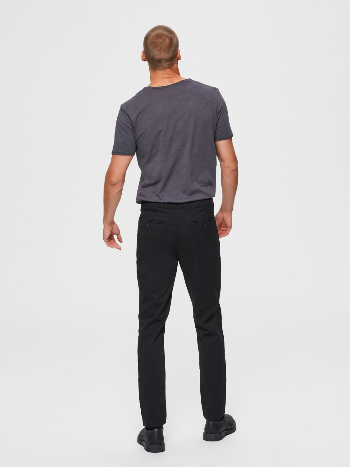 Selected Chino´s flex pants black | Gate36 Hobro