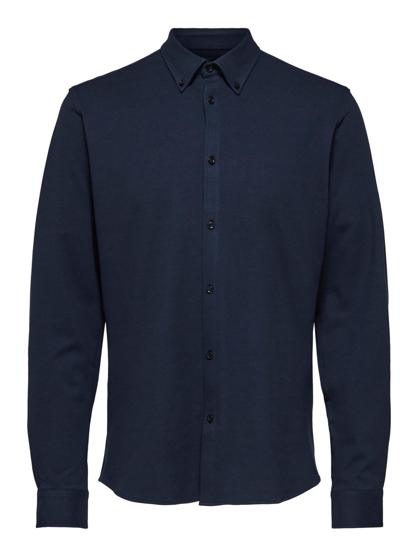 Selected Skjorte - Slhslimavenue-knit sky captain | Gate36 Hobro