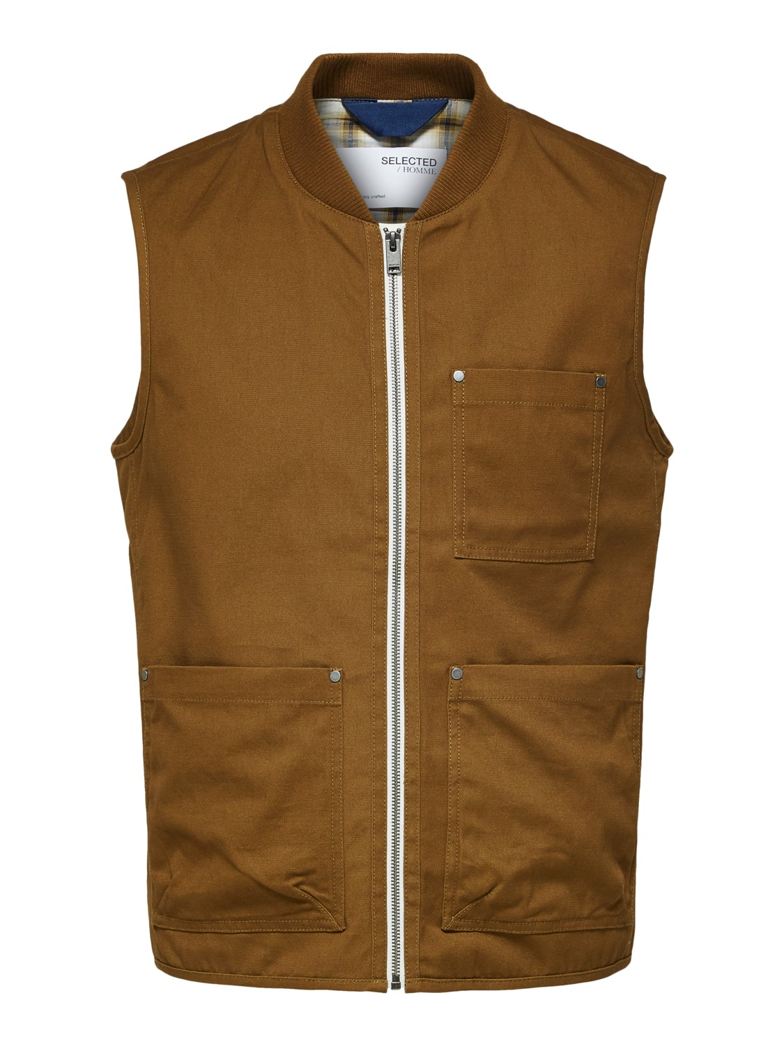 SELECTED - SLHBAKKER COTTON VEST | Gate36 Hobro