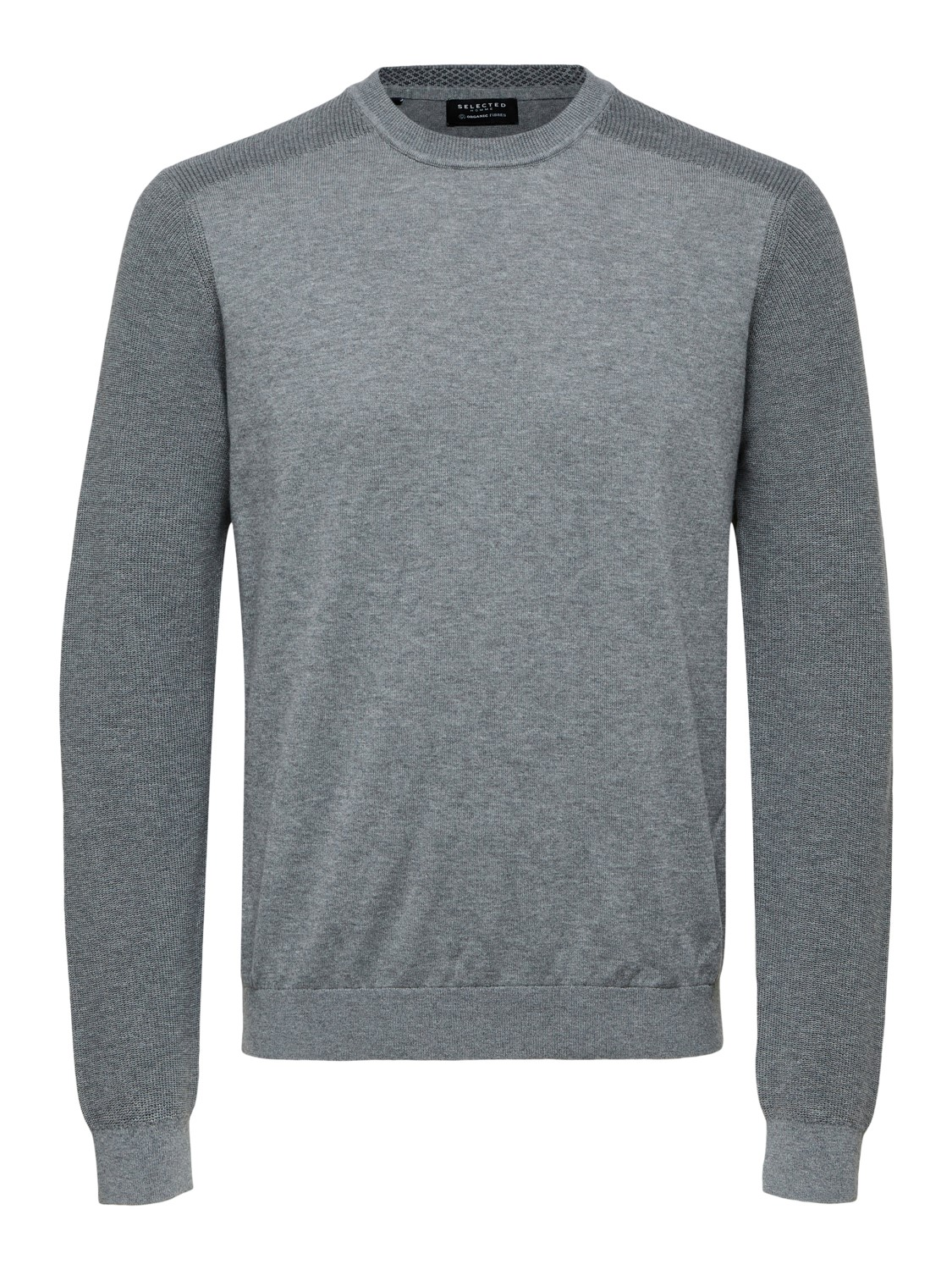 Selected - Slhallen crew neck camp medium grey | Gate36 Hobro