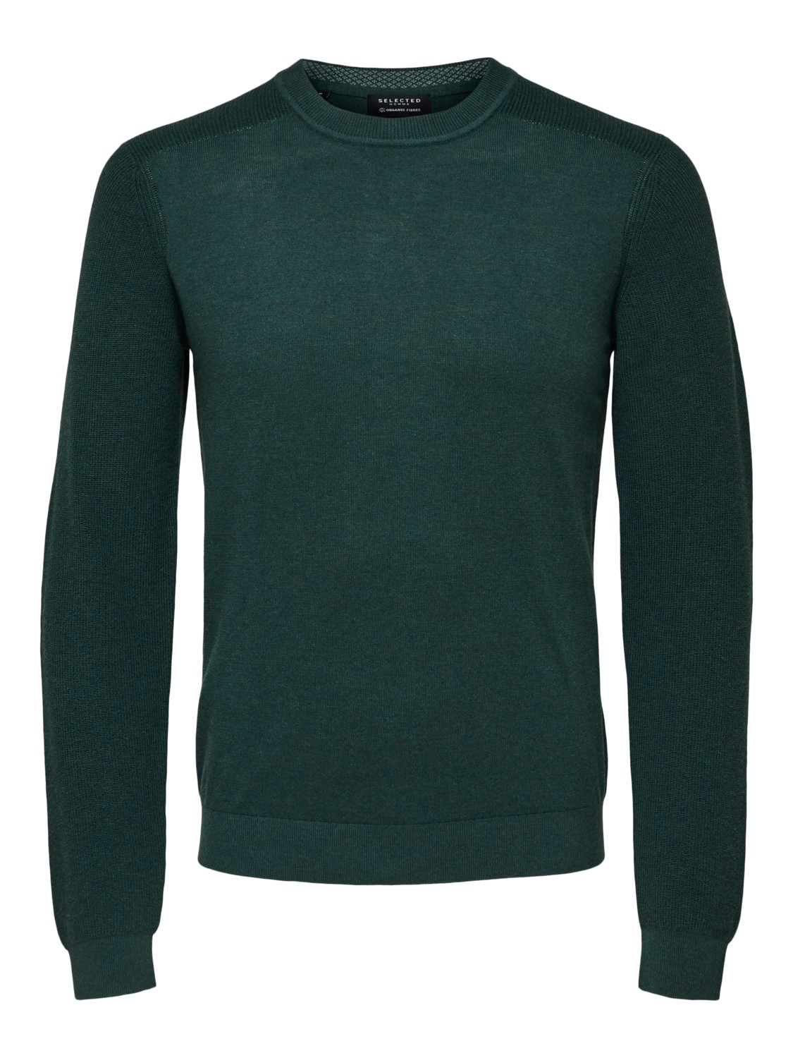 Selected - Slhallen crew neck camp darkest spruce /medium green | Gate36 Hobro