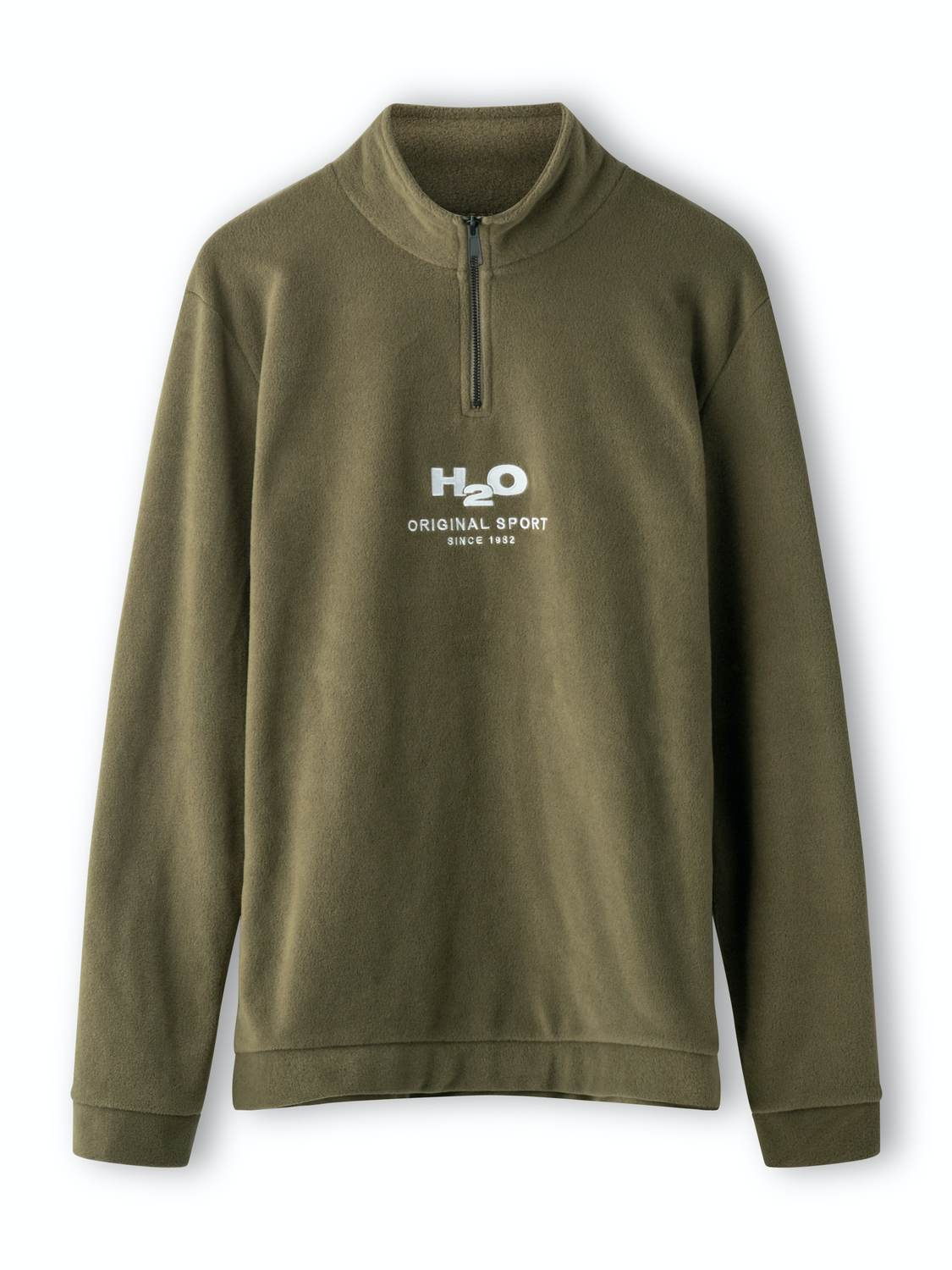 H2O Blåvand Fleece Half Zip Army | GATE 36 Hobro