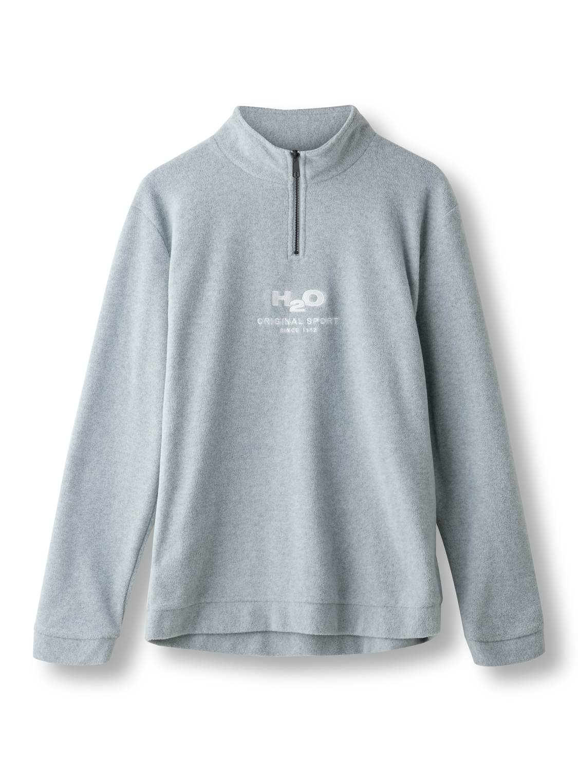 H2O Blåvand Fleece Half Zip Lt Grey | GATE 36 Hobro