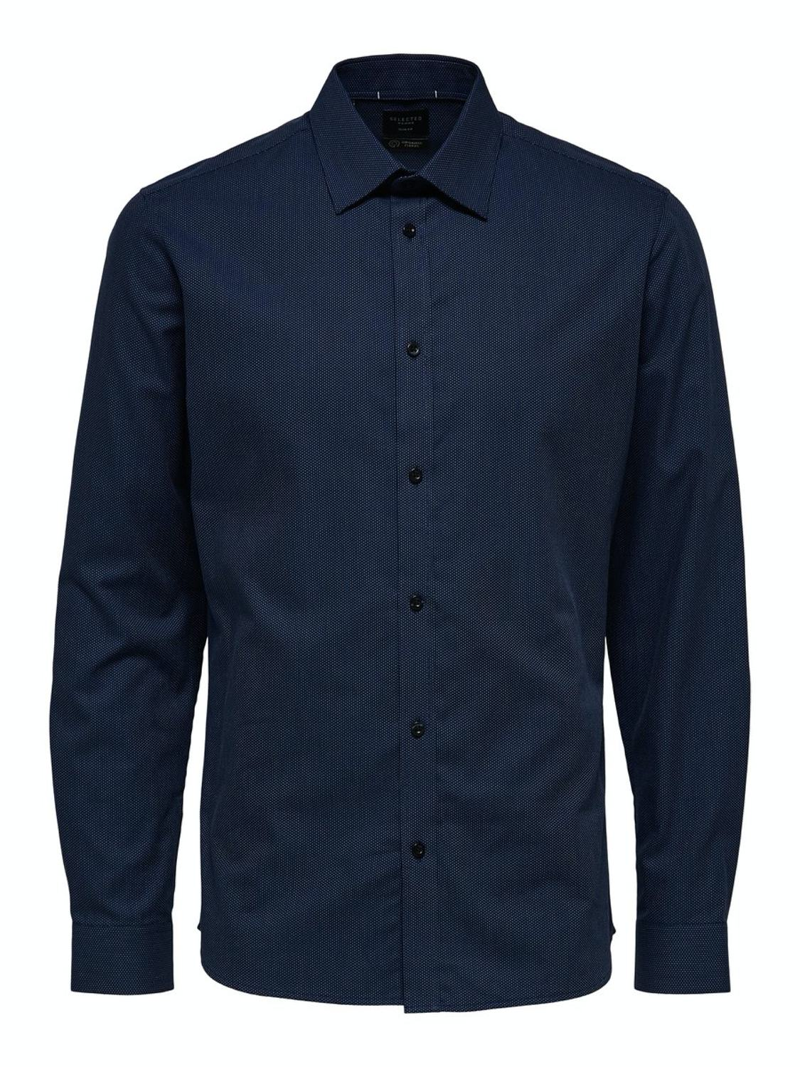Selected Skjorte - Slhslimmalcolm Shirt Dark Navy | GATE 36 Hobro