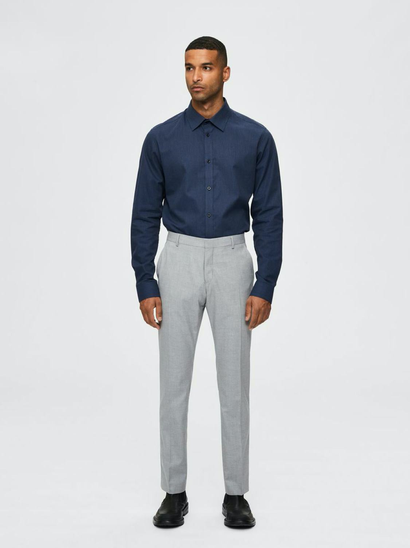 Selected Skjorte - Slhslimmalcolm Shirt Dark Navy | GATE 36 Hobro