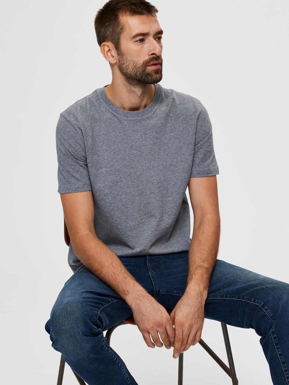 Selected - T-shirt o-neck grey   Gate36 Hobro