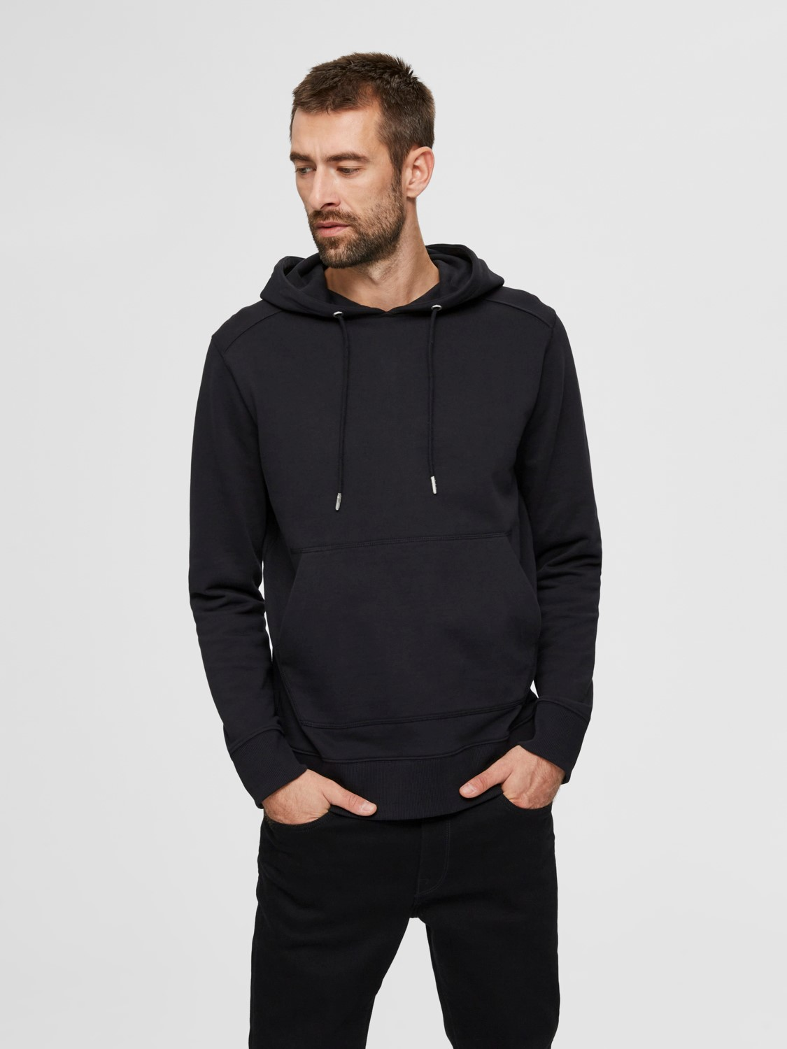 SELECTED - SLHJACKSON HOODIE BLACK | GATE 36 Hobro