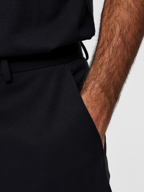 Selected Bukser - slhreg flex bukser black | Gate36 Hobro