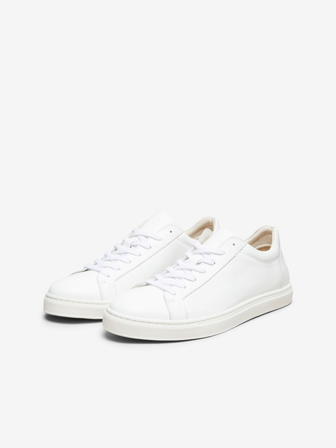 Selected - SLHEVAN LEATHER TRAINER WHITE | Gate36 Hobro