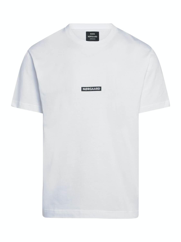 Mads Nørgaard T-Shirt - Box Logo White | GATE 36 Hobro