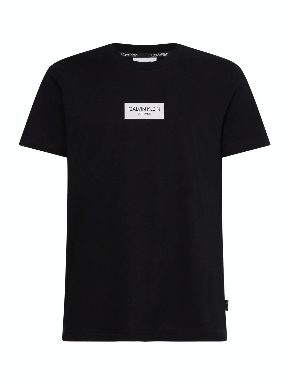 CALVIN KLEIN T-SHIRT BOX LOGO BLACK | GATE 36 Hobro