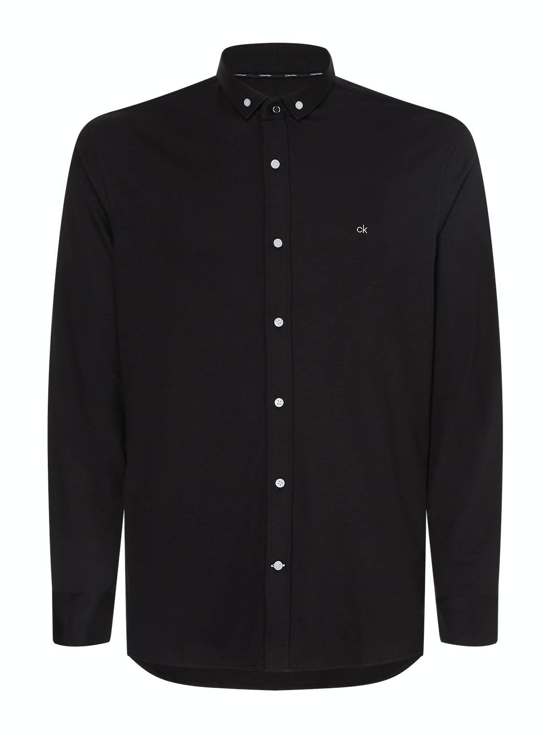 CALVIN KLEIN - KNITTED SHIRT BLACK | GATE 36 Hobro