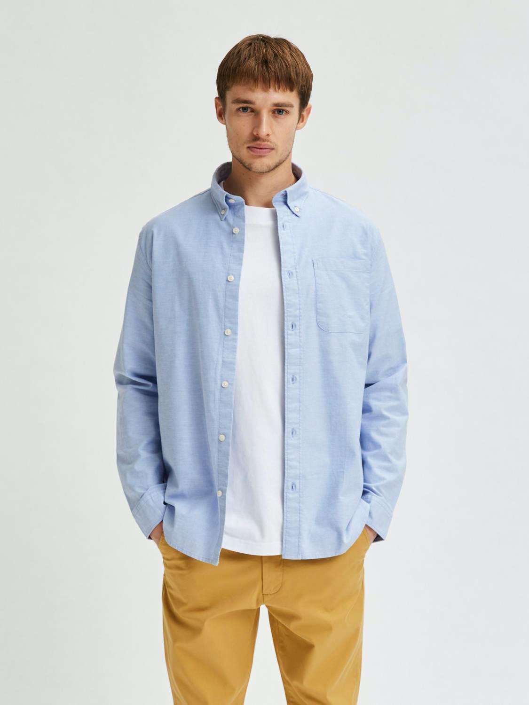 Selected Skjorte - Slhsregrick-ox Light Blue | GATE 36 Hobro