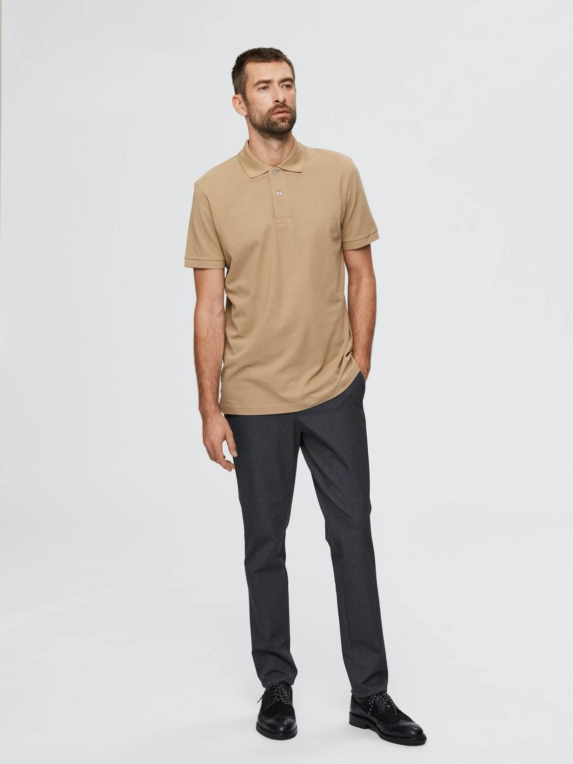 SELECTED POLO T-SHIRT SLHNEO KELP | GATE 36 Hobro