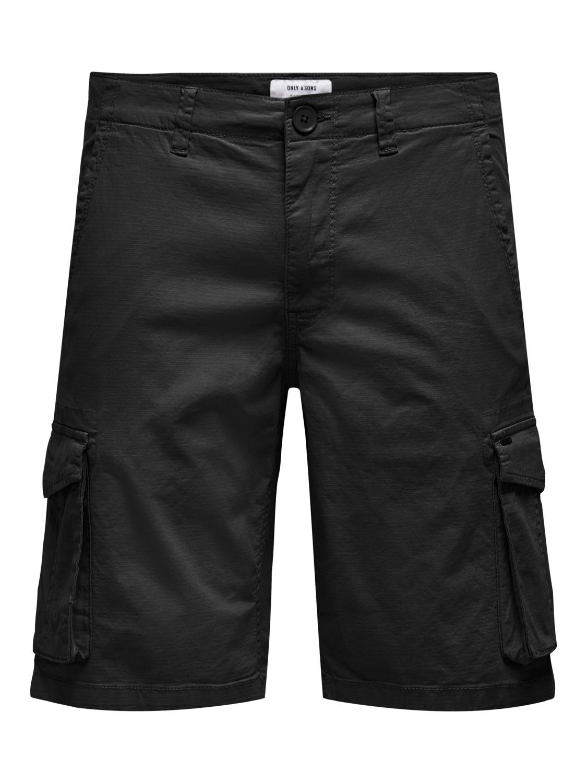 ONLY & SONS - Onsmike cargo shorts black | Gate36 Hobro